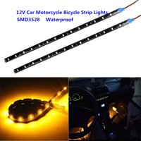 auto decor - New Arrival CM Leds SMD Waterproof Flexible Strip Tape Light Car Auto Decor Lamp Motorcycle Bicycle Flexible Light Strip Lights