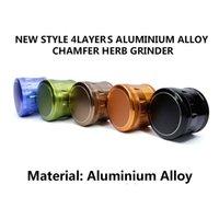 Molinillo de la especia de la hierba de la aleación de aluminio de las amoladoras de la hierba de 63m m 4 colores de la alta calidad 6 de la amoladora del metal de las piezas