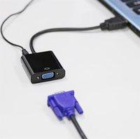 2017 Haute qualité HDMI vers VGA adaptateur convertisseur câble adaptateur numérique à analogique vidéo câble audio pour ordinateur PC tablette de bureau