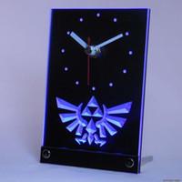 Wholesale tnc0204 Legend Of Zelda Triforce Table Desk D LED Clock