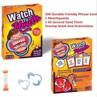 Wholesale 48pcs Watch Ya Mouth Game Christmas Celebration Party Board Games cards mouthopeners Family Edition Hilarious Mouth Guard