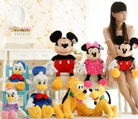 0-12 Months Unisex as pic Wholesale- Promotion 25cm Donald Duck and Daisy Plush Doll Toy Cute Goofy Dog Pluto Dog Plush Toy High Quality Stuffed Toys Children Gift