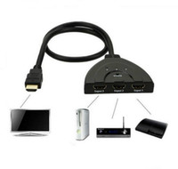 Wholesale 3 Port HDMI Switch IN OUT P Hub V1 B HDMI Switcher Splitter Adapter Cable For HDTV XBOX PS3