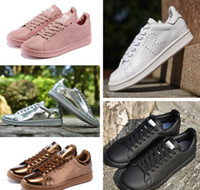 Lace-Up Unisex Spring and Fall 2016 Raf Simons Stan Smith Spring Copper White Pink Black Fashion Shoe Man Casual Leather brand woman man shoes Flats Sneakers