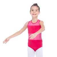 ballet unitards - Ballet Dance Leotards Cotton Lycra with Mesh Tank Girls Practice Dancewear Ladies Costume Full Sizes Colors Available