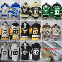Wholesale Sidney Crosby Ice Hockey Jersey Hoodie Pittsburgh Penguins Men s Hockey Hoodies Hooded Sweatshirt Old Time Hockey Hoodies stiched S XL