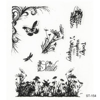 Rubber beautiful scrapbooking - Beautiful scenery mood Design Silicone Transparent Stamp Clear Stamps Set for DIY Scrapbooking Photo Album Decoration Supplies
