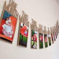 Wholesale DIY Monthly Paper st One Year Photo Booth Birthday Banner String Flag Accesorios Photo Frame Photos Album Party Decoration
