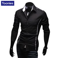 Wholesale New Autumn Men Clothing Long Sleeve Shirt Men Casual Shirts Sexy Fashion Slim Male Single Breasted Plus Size M XL camisa masculina