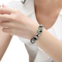 Wholesale BAMOER European Silver Charm Bracelets amp Bangles for Women With Black Murano Glass Beads DIY Bijouterie PA1040