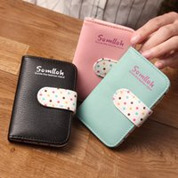 Wholesale Delicate Casual Lady Card Purse Handbag Case Credit Card Holder Korean Fashion Lady Card Package Gift for Girls Female