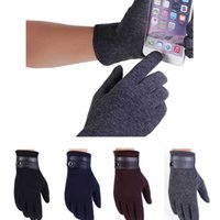 Wholesale New Mens Sports Running Windproof Touch Screen Winter Driving Gloves Full Finger