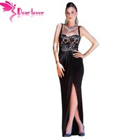 Lace bustier maxi dress