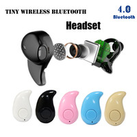 Wholesale Gold Sport Running S530 Mini Stealth Wireless Bluetooth Earphone Stereo Headphones music Headset Retail Box for andriod iphone7 plus