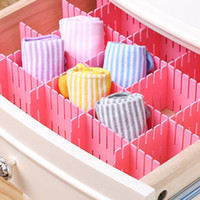 Wholesale 8pcs Creative DIY Adjustable Organizer Partitions Free Combination Grid Drawer Closet Reorganizing Divider Household Organization Clapboard