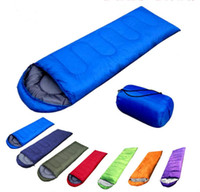 Wholesale Outdoor camping summer camping sleeping bag lunch g envelope hooded sleeping bag manufacturers build blanket envelope hooded