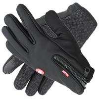 Wholesale Sports Fleece Gloves warm touch screen waterproof windproof anti skid winter ski touch screen gloves