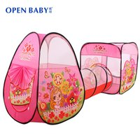 best animes - Open Baby New Arrive Child Tunnel Game House Large Baby Kids Crawling Ocean Ball Pit Pool Pink Best Quality Play Toy Tent