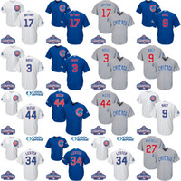 baseball world series - Youth MEN World Series Champions chicago cubs Javier Baez Kris Bryant Rizzo David Ross Ben Zobrist baseball jerseys stitch
