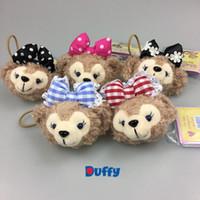 bear elastics - Duffy bear shelliemay cute hair hoop hair accessories Rubber band Stuffed toys with elastics girl s headwear