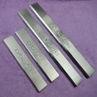 Wholesale 4PCS Car Accessories For Dodge JOURNEY Exterior Inner Door Sill Scuff Plate Cover Chromium Styling
