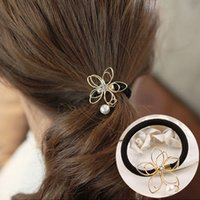 Wholesale South Korean jewelry hair bands rope hoop holster headdress hairpin headdress flower hairpin