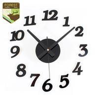antique bedroom sets - Modern D DIY Wall Clock Face Acrylic Watch Art Designs Digital Clock Numbers Home Bedroom D Sticker Mute Clock Art Wall Decor