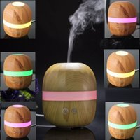 aromatherapy oil blends - 100ml Healthy Essential Oil Blends Portable USB Car Ultrasonic light Wood Aroma Diffuser