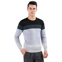 Wholesale 2017 New fashion men top clothing Fitness sweater Long Sleeve Casual clothing color mosaic vest swweater