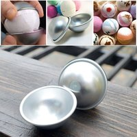 Wholesale Aluminum Sphere Bath Bomb Cake Baking Pastry Ball Mold Multi size Chocolate balls DIY Baking For Birthday Party