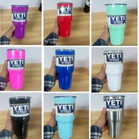 Wholesale 10 Colours COLORFUL YETI cup oz YETI Rambler Tumbler Cups Cars Beer Mug Mug Stainless Steel Insulation yeti Cup