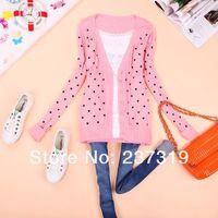 Regular best cardigan sweaters - BEST PRICE fashion women coat small love heart sweater PLUS SIZE cardigan knitted coat CH021018B