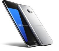 Bon Marché Écrans de téléphone gratuits-S7 EDGE écran courbé MTK6580 quad core 1GB / 4GB Metal Version Mobile Android Android 4G LTE Smartphone téléphones cellulaires Livraison gratuite