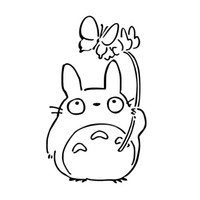 Personalized Sticker animal window decals - My Neighbor Totoro Chu Butterfly Vinyl Decal Funny Sticker Manga Anime Jdm Car Window Car Styling Accessories Decor