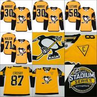 Wholesale 2017 Stadium Series Jerseys Sidney Crosby Jersey Matt Murray Kris Letang Phil Kessel Pittsburgh Penguins Hockey Jerseys