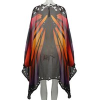 Wholesale Adult Soft Butterfly Wings Halter Cape Adult Costume Accessory Halloween for Raves Festival