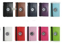 Wholesale 360 Degree Rotation smart Stand PU Leather Case Cover For Apple ipad air air ipad pro