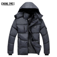 Wholesale Hot Winter New White Duck Down Thick Warm old Mens Coats Jackets Outdoor Detachable hood big size warm men coat