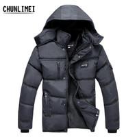 big mens hats - Hot Winter New White Duck Down Thick Warm old Mens Coats Jackets Outdoor Detachable hood big size warm men coat