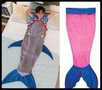 best sleeping bag for kids - best gift for Kids Baby Mermaid Sleeping Bag Shark Crystal Wool Warm Sleep sacks Children Mermaid Tail Fleece Blankets Soft Blankets