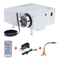 Wholesale UC28 Mini LED Digital Video Game Projectors Multimedia player Inputs AV VGA USB SD HDMI proyector Built in Speaker data show