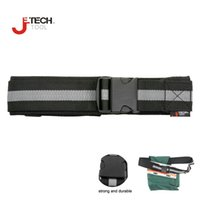 adjustable nylon web straps - Jetech wide adjustable nylon and polyester web tool work belt black with quick released buckle for tool bag strap