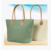 al por mayor bolsas bohemias-5 color Forme a mujeres bohemias la señora mano tejida bolso de la paja de alta capacidad Totes temperamento playa vacaciones playa bolsos bolsos de hombro