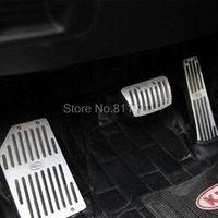 auto trim parts - For Kia Sorento Sport Aluminum Alloy Fuel Brake Foot Rest Pedals AT Accelerator Gas Pedals Trims Auto Parts