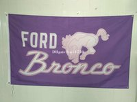 automobile banners - Ford Bronco Automobile Exhibition flag car brand logo banner X150CM size polyster