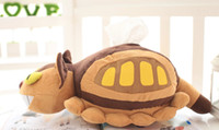 Plush animation coffee - 2017NEWHayao Miyazaki Animation Bus Totoro Doll Stuffed Toys Totoro Tram Plush Toys Kawaii plush Paper pumping For car home