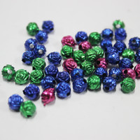Wholesale 2016 Top Fashion Flat Flowers Neon Sign Factory Direct Sale g of A Kilo Acrylic Beads Diy Beads Plating Rose Bead Puzzle