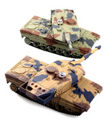 Wholesale a pair two tank G Battle Tank Rechargeable battery RC Russia Tanks Gift