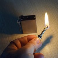 Wholesale High quality Stainless steel Flints Survival Emergency Fire Starter Flint Metal Match for Camping Survival Cooking Lighter Hiking Outdoor