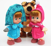 baby bear sounds - Hot sell Masha And The Bear Russian Language Doll Musical Dancing Talk Dolls Plush Toys Birthday Christmas Gifts For Children